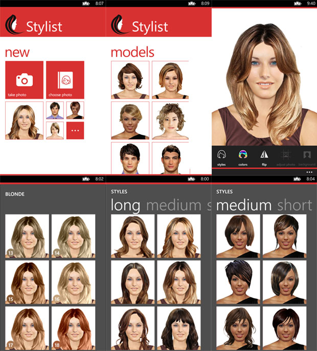 Terrific Stylist Lets You Try Out New Hair Styles On Your Windows Phone Short Hairstyles Gunalazisus